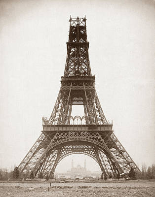Eiffel Tower Under Construction - 1888 Poster