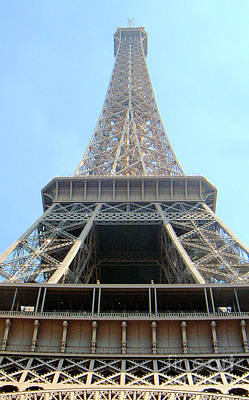Poster featuring the digital art Eiffil Tower Paris France  by Linda Shackelford