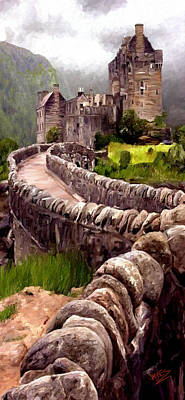 Poster featuring the painting Eilean Donan Castle by James Shepherd