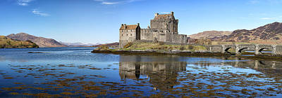 Eilean Donan Castle Panorama Poster by Grant Glendinning
