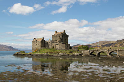 Poster featuring the photograph Eilean Donan Castle - Scotland by Karen Van Der Zijden