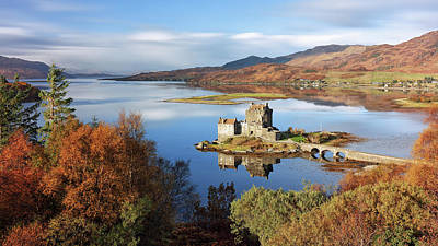 Poster featuring the photograph Eilean Donan In Autumn - Dornie by Grant Glendinning