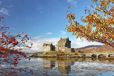 Poster featuring the photograph Eilean Donan In Autumn by Grant Glendinning