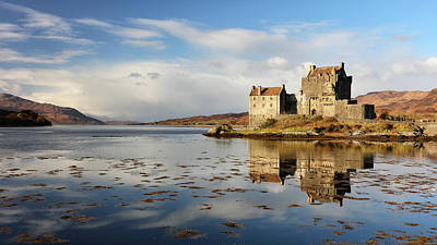 Poster featuring the photograph Eilean Donan - Loch Duich Reflection - Dornie by Grant Glendinning