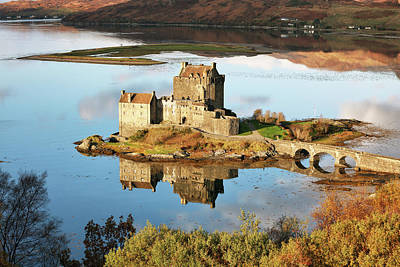 Poster featuring the photograph Eilean Donan - Loch Duich Reflection - Skye And Lochalsh by Grant Glendinning