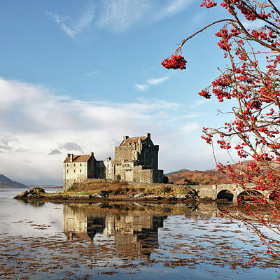 Poster featuring the photograph Eilean Donan - Loch Duich Reflection - Skye by Grant Glendinning
