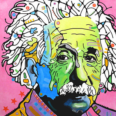 Poster featuring the painting Einstein by Dean Russo