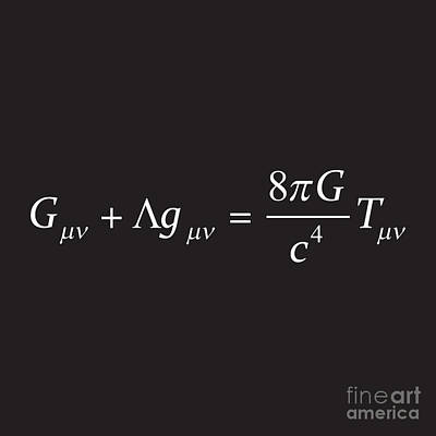 Einstein Field Equation Formula Poster