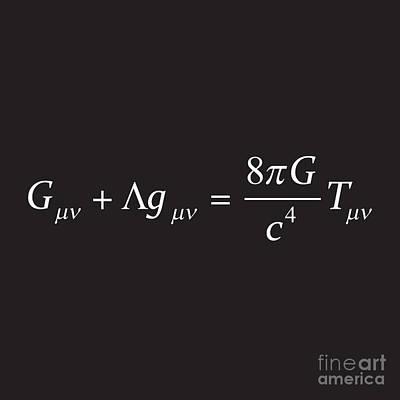 Einstein Field Equation Formula Poster