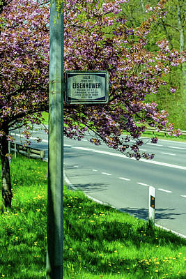 Eisenhower Drive Entrance - Luxembourg American Cemetery And Memorial  Poster