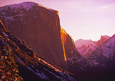 El Capitan And Half Dome, Yosemite N.p. Poster