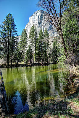 El Capitan And The Merced River In Yosemite Poster