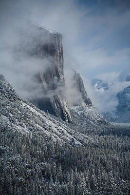 El Capitan In Clouds Poster
