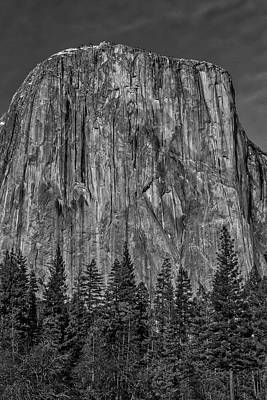 El Capitan Portrait In Black And White Poster