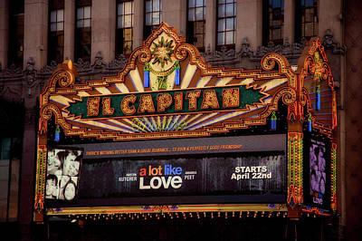 El Capitan Theatre Marque, Los Angeles, California Poster
