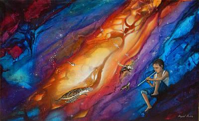 El Flautista Poster by Angel Ortiz