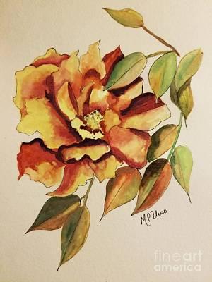 El Fuego De La Rosa Poster by Maria Urso