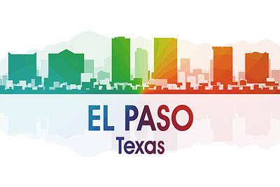 El Paso Tx Poster by Angelina Vick