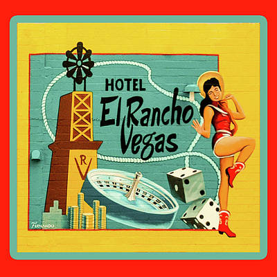 Poster featuring the photograph El Rancho by Jeff Burgess