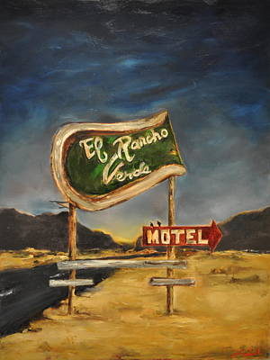 Poster featuring the painting El Rancho by Lindsay Frost