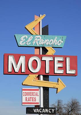 El Rancho Motel Stockton Ca Poster by Troy Montemayor