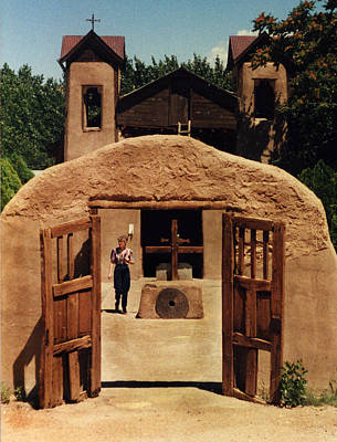 Poster featuring the photograph El Santuario De Chimayo by Kathleen Stephens