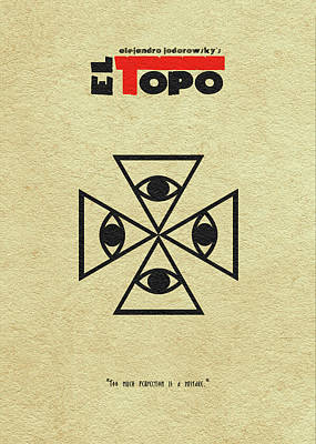 Poster featuring the digital art El Topo by Ayse Deniz