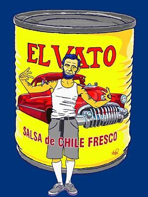 El Vato - Abe Poster by Armando Padilla