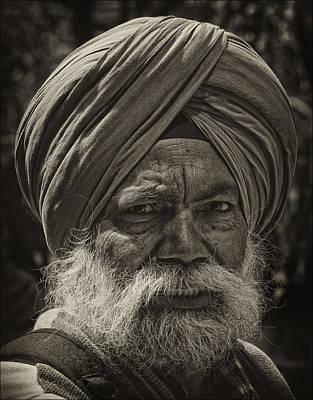 Elderly Sikh  Poster