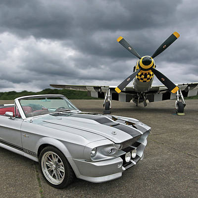 Eleanor Mustang With P51 Poster