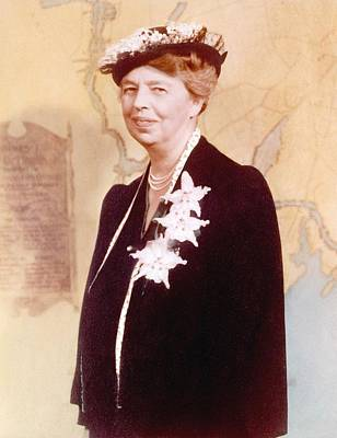 Eleanor Roosevelt. Hand Colored Poster by Everett