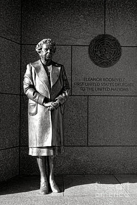 Eleanor Roosevelt Sculpture  Poster by Olivier Le Queinec