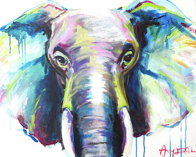 Eleanor The Elephant Poster by Amy Eichler