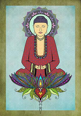 Electric Buddha Poster by Tammy Wetzel