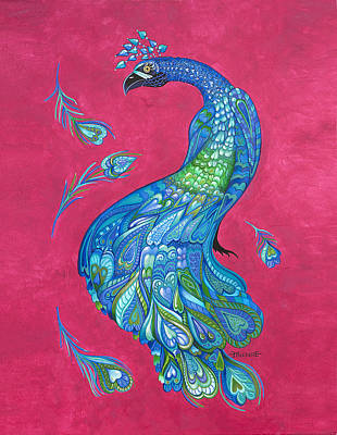Electric Peacock Poster by Michelle Stone