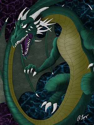 Electric Portal Dragon Poster