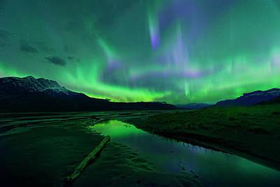 Electric Skies Over Jasper National Park Poster