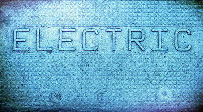 Electric Text Poster