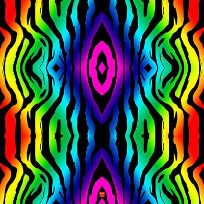 Electric Zebra Black Poster