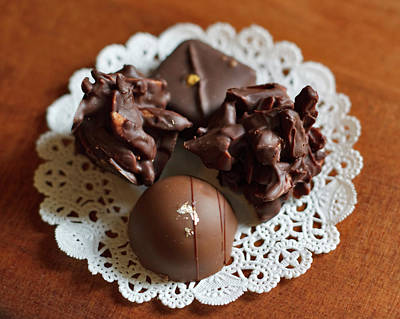 Elegant Chocolate Truffles Poster by Louise Heusinkveld