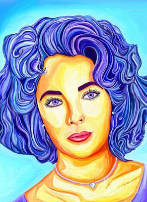 Elegant Elizabeth Taylor Poster by Deborah Camp
