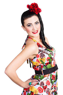 Elegant Latino Dancer Girl Performing Salsa Dance Poster by Jorgo Photography - Wall Art Gallery