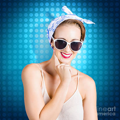 Elegant Pinup Woman Wearing Classic Retro Fashion Poster by Jorgo Photography - Wall Art Gallery