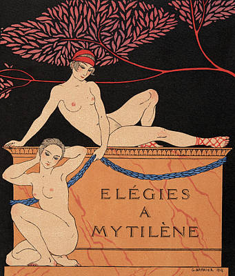 Elegies A Mytilene Poster by Georges Barbier