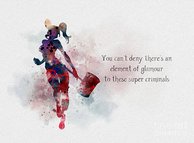 Element Of Glamour Poster by Rebecca Jenkins