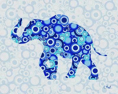 Elephant - Animal Art Poster by Anastasiya Malakhova
