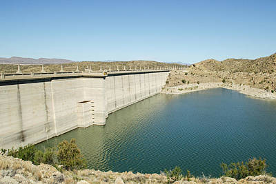 Elephant Butte Dam - Lake Side Poster