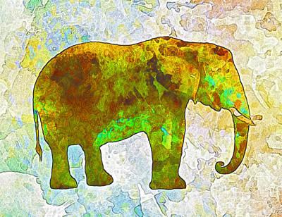 Elephant Poster by Elena Kosvincheva