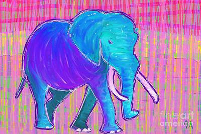 Elephant Poster by Jeremy Aiyadurai