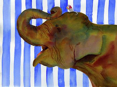 Elephant Joy Poster